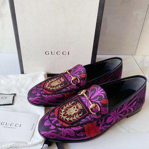 Gucci Princetown Decorative Floral HORSEBIT Loafer